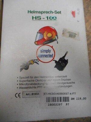 Helmsprech-Set HS - 100 / PTT-Micro-Höhrerset