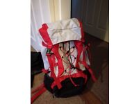 Two 45L Rucksacks - ideal for camping or festivals