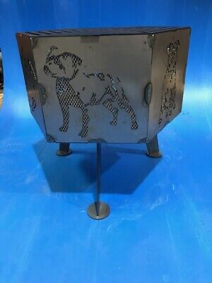 """Staffordshire bull terrier """"Staffy""""  hexagonal fire pit with grill"""