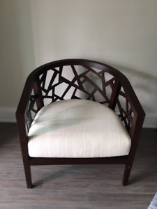 Crate and Barrel Ankara Chair Brand New!