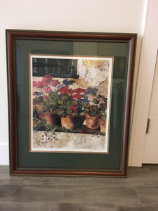 "Joy Laking ""Geranium"" Original print"