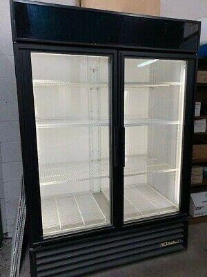 True Gdm-49 Glass Two 2 Door Beverage Merchandiser Reach In Refrigerator Cooler