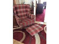 Cavendish Luxury Armchair and footstool
