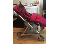 Mama's and Papa's urbo raspberry pushchair almost new condition