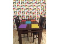 Solid wood dinning table and six chairs