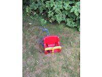 Red Kettler baby swing seat