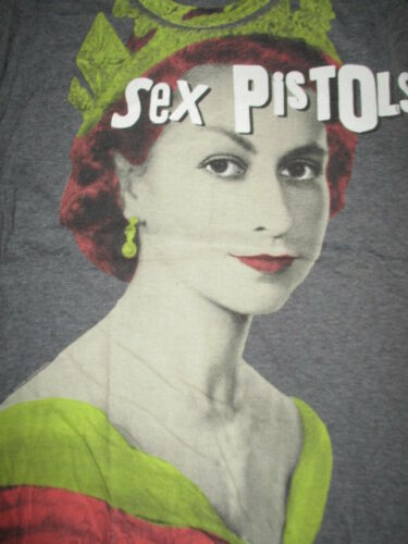 """Retro SEX PISTOLS """"Save the Queen"""" (MED) T-Shirt JOHNNY ROTTON"""