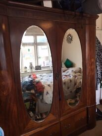Free Worn Art deco remake wardrobe - large. For collection only.