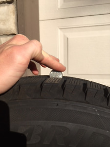 WINTER TIRES 245/60R18 - 80% tread M+S (snow symbol) 700OBO