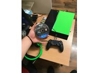 PS4 500GB + controller + charger + FIFA 18 + COD WW2