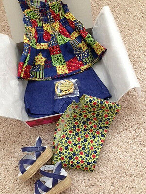 American Girl JULIE PATCHWORK OUTFIT, NEW Sandals Bandana Shorts IVY