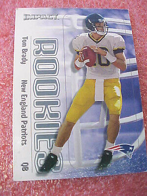 Ft1 2000 Impact  27 Tom Brady Rc Rookie Card  Proud Family Member