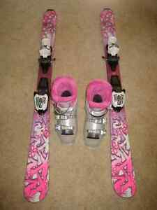 Lange Starlett Ski Boots (Size 20.5) and K2 Luv Bug Skis (112)