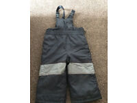 Boys ski Salopettes trousers waterproofs Age 12-18 months from Mothercare