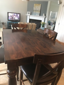 """""""Kingstown"""" Pub Height Dining Table and Chairs"""