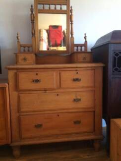 Huon Pine Duchess Dressing Table (Victorian 19th Century) Lane Cove Lane Cove Area Preview