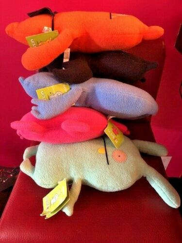 """Lot of 5 UGLY DOLL Stuffed Plush Toys 2002-10 11-15""""  Gently Used Cute Dolls"""