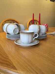Mikasa Fluted Shell cups and saucers Cambridge Kitchener Area image 1