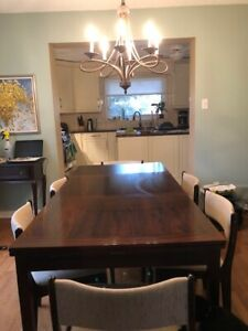Beautiful Rosewood Dining Table 6 Matching Chairs And Buffet