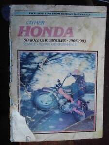 HONDA 50 -110cc SINGLES 1965 to 1983 WORKSHOP SERVICE MANUAL Dianella Stirling Area Preview