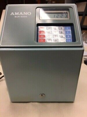 Amano Mjr-8000 Refurbished Very Clean Excellent Working Condition