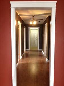 Three bedroom top floor for rent in Bay Roberts.