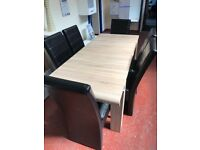 EXTENDABLE DINING TABLE WITH 6 CHAIRS ! HIGH QUALITY!