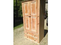 Pine wardrobe - used but good condition