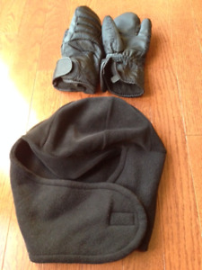 Horse Riding Winter Gloves and Helmet Cover