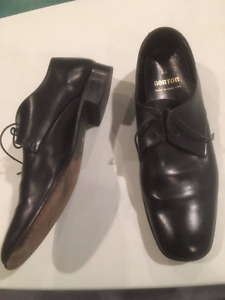 British Made Vintage Style Men Lace  Up Black Leather Shoes