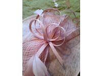 Fascinator Hat Pale Pink 'Phase Eight'