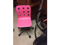 Computer Chair – Ikea Child Pink £10