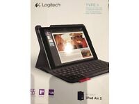 Logitech Type+ Keyboard cover for ipad Air 2 - blue. Brand new - never used