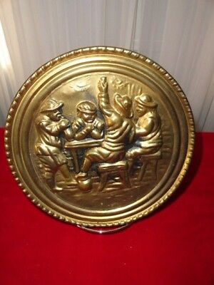 Vintage Stamped Brass Decorative Wall Plate Planter  Made In England