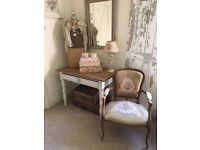 Beautiful French style Oak vintage chair
