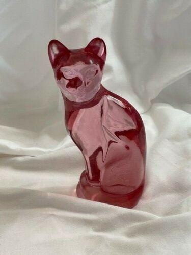 Fenton Glass 95th Anniversary Pink Cat