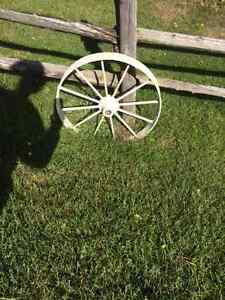 Antique Wagon Wheels - $50 for both