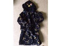 Dressing gown (M&S) age 4-5 Angry birds ( excellent condition) - Bury St Edmunds