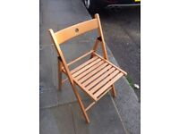 6 Wooden foldable Ikea Chairs
