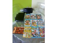 Wii U console (black 32GB) and 9 games