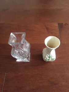 Bud Vases - Belleek & Waterford -Both for $25