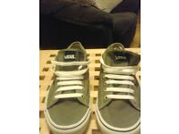 Mens size7 Vans grey casual shoes with white laces in excellent condition as new