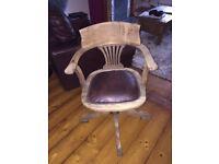 Vintage Oak captains swivel chair