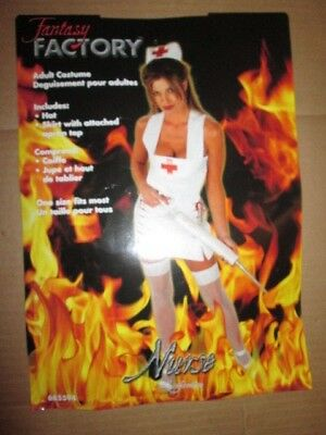 Halloween Costume Factory (Womens NURSE sexy hot Halloween Costume sz one size fits most Fantasy)