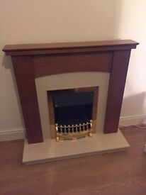 Fire surround with fire