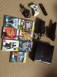 XBXOX 360 S With 7 games, remote control, Kinect, controller Doncaster East Manningham Area Preview