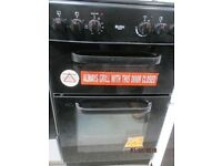 *+BUSH BLACK DOUBLE OVEN/*Free Delivery*50 CMS WIDE SOLID TOP ELECTRIC COOKER/FULLY SERVICE/VERY CLE