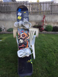 Snowboard--Lab Tech Krew and Custom Bindings.