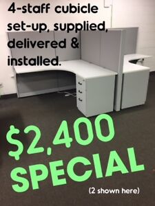 USED OFFICE CUBICLES, VARIOUS HEIGHTS & CONFIGURATIONS
