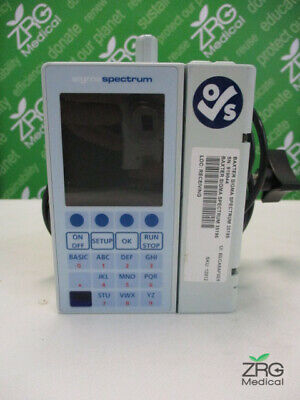Baxter Sigma Spectrum Iv Infusion Pump 6.05.13 W Power Supply Clamp